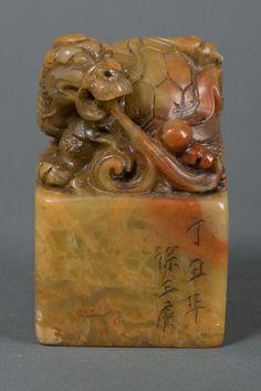 Fine Shoushan Stone Carved Archaic Tortoise Seal