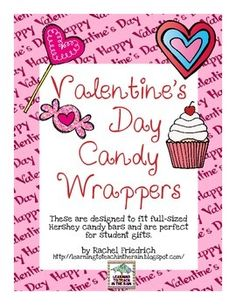 Valentine's Day Candy Wrappers candi wrapper