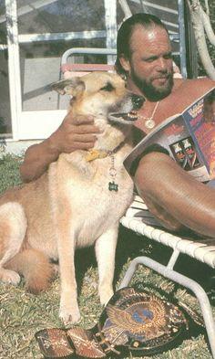 Macho man Randy Savage and his dog Hercules