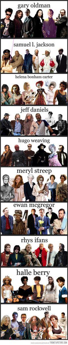 geek, stuff, favorit peopl, movi night, entertain, versatil actor, actresses