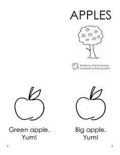 Apples Book for Beginning Readers