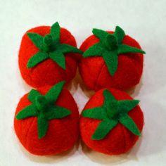 Felt Food Tomatoes Children's Play Food. $14.00, via Etsy.