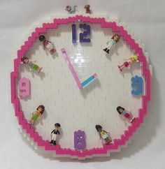 LEGO Friends Clock | Flickr - Photo Sharing! lego friend's, friends lego, friend clock, lego clock, lego friends