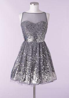 Silver Sequin Dress