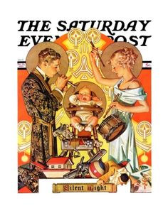 """""""Silent Night"""" By J.C. Leyendecker. Issue: December 28, 1935. ©SEPS. Giclee print available at Art.com."""