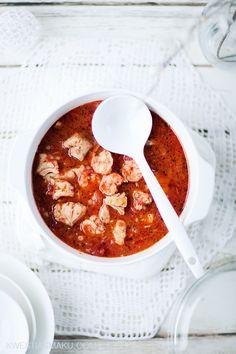 Zupa rybna pomidorowa - Przepis