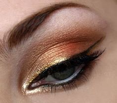 Golden Fire - Gold and orange hues eye shadow.