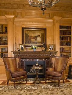Luxury Home Library|Home Office by HalehDesign, via Flickr
