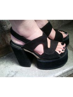 90s CHUNKY SHOES platforms SONAX  fr37 / us 6 / by lesclodettes, $109.00