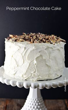 holiday parties, peppermint chocol, chocolate cake recipes, chocol cake, cake frosting