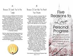 Tri-Fold for Five Reasons to Love Personal Progress