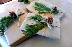 Simple + beautiful Christmas wrapping