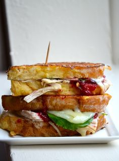 Day after Thanksgiving Leftovers - TURKEY & CRANBERRY MONTE CRISTO