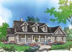 Farmhouse House Plan with 2195 Square Feet and 4 Bedrooms(s) from Dream Home Source   House Plan Code DHSW14787