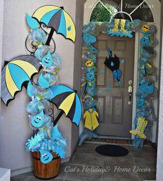spring door decor...