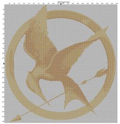 Mockingjay cross stitch pattern.