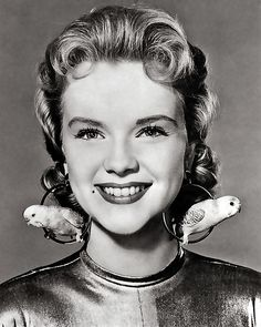 1956 ... Altaira's aviary earrings!  Anne Francis- 'Forbidden Planet'
