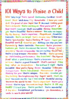 101 ways to praise a child