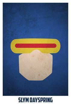 minimalist superhero poster