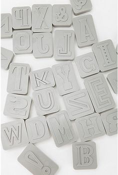 letter press cookie cutters