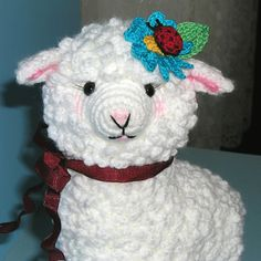 Cutest sheep, crocheted and free pattern too