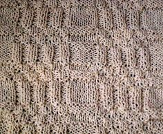 Knit stitch pattern - 69. Pattern from knit and purl stitches