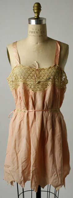 vintage 1920s silk and cotton lingerie