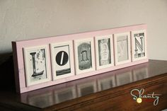 DIY Letter Photo Art FREE Letters! Great craft for Christmas gifts!