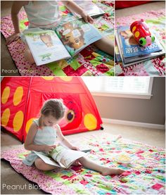 Camping for Non-Campers: Got Rain? Pop the tent in the living room. *great way to get kids reading