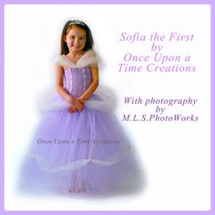 Sofia The First Inspired Princess Tutu Dress - Birthday Outfit, Photo Prop, Halloween Costume - 12M 2T 3T 4T 5T - Disney Sophia Inspired on Etsy, $59.99