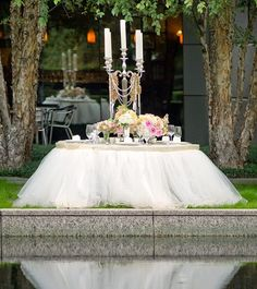 ~Tulle table skirt!~