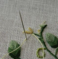 How-To: Embroider a Perfect Bullion Knot #bullionknot #embroidery #tutorial