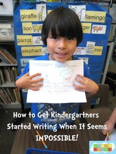 How to Get #Kindergartners Started Writing When It Seems IMPOSSIBLE!