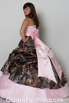 Pretty pretty princess party dresses we wish we could for Camo and pink wedding dresses
