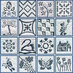 """Quilt blocks from """"Dutch Treat: 196 Applique Blocks Inspired by Dutch Designs"""" by Judy Garden"""