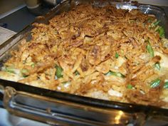 Low Carb Menu: Green Bean Casserole with Chicken