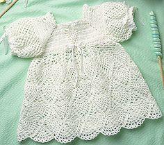 Leisure Arts - Whipped Cream Dress to Crochet for Baby Pattern ePattern, $3.99 (http://www.leisurearts.com/products/whipped-cream-dress-to-crochet-for-baby-pattern-digital-download.html)