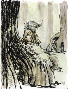 Star Wars - Yoda by Skottie Young *
