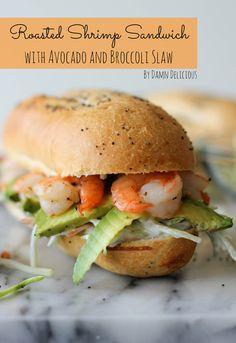 Shrimp Sandwich w/ Avocado & Broccoli Slaw. Add this to your #picnic menu!