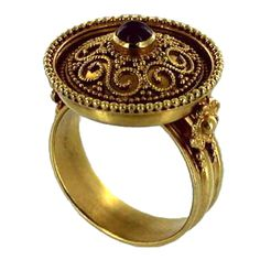 LALAOUNIS Gold and Ruby Ring
