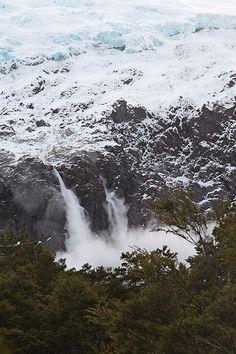 Avalanche, Rob Roy Glacier, New Zealand