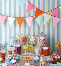 Love the candy buffet idea