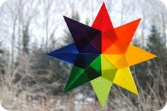 Christmas tissue paper star