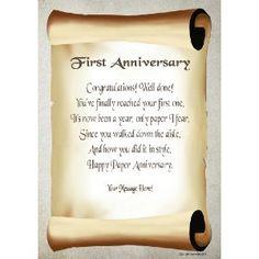 1st Wedding Anniversary Gift Ideas Uk : 1st Wedding Anniversaries Gifts on Pinterest 1st Anniversary ...