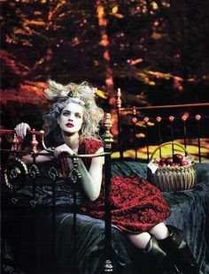"""""""Into The Woods"""": Natalia Vodianova by Mert & Marcus for Vogue"""