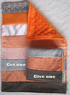 Baby Sensory Security Blanket Lovey - orange crush - Get One, Give One to babies in Kenya, $30.00