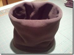 how to make a double-sided fleece neck gaiter