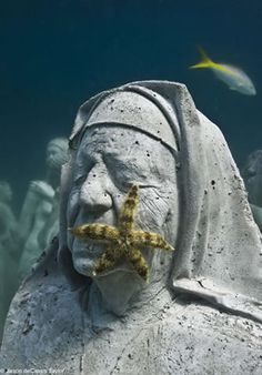 cancun, sculptures, mexico, starfish, underwat sculptur, statu, isla mujeres, underwater art, taylors