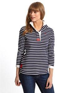 Joules Womens Striped Sweatshirt, French Navy Stripe.