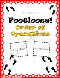Order of Operations Footloose from Middle School Math Moments on TeachersNotebook.com -  (20 pages)  - Order of Operations Footloose keeps students moving while practicing their math!